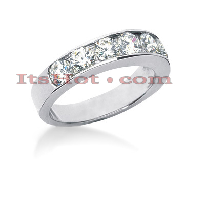 14K Gold Diamond Designer Engagement Ring Band 1.40ct