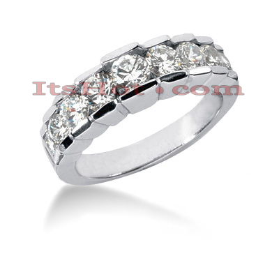 Thin 14K Gold Diamond Designer Engagement Ring Band 1.49ct Main Image