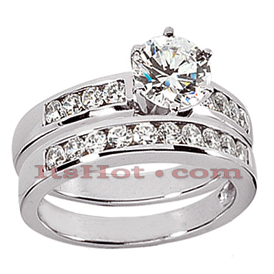 14K Gold Diamond Designer Engagement Ring Set 0.54ct Main Image