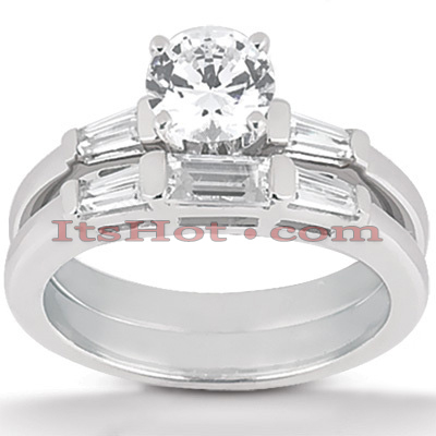 14K Gold Diamond Designer Engagement Ring Set 1.13ct Main Image