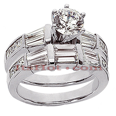 14K Gold Handmade Diamond Designer Engagement Ring Set 2.30ct Main Image