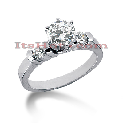 14K Gold Diamond Engagement Ring 0.64ct Main Image