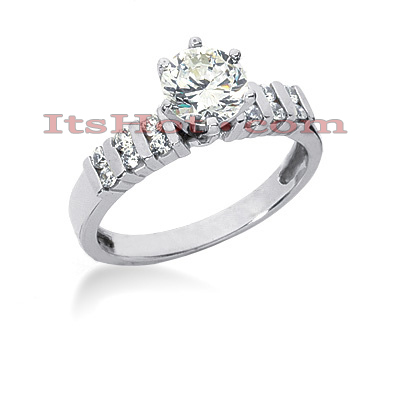 14K Gold Diamond Engagement Ring 0.74ct Main Image