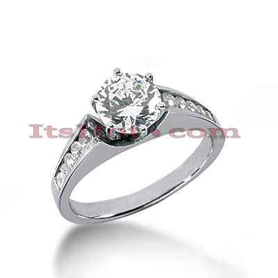 14K Gold Diamond Engagement Ring 0.77ct