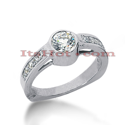 14K Gold Diamond Engagement Ring 0.85ct