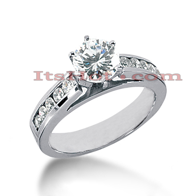 14K Gold Diamond Engagement Ring 0.85ct Main Image