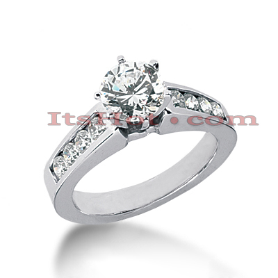 14K Gold Diamond Handmade Engagement Ring 0.90ct Main Image