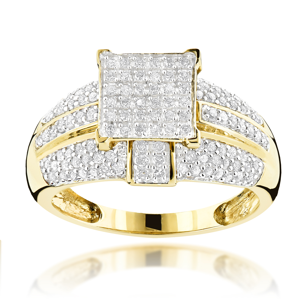 14K Gold Diamond Engagement Ring 0.93ct