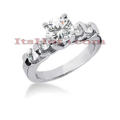 14K Gold Diamond Engagement Ring 0.98ct Main Image