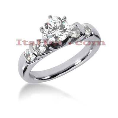 14K Gold Diamond Engagement Ring 1.14ct Main Image