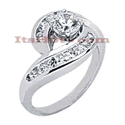 14K Gold Diamond Engagement Ring 1.20ct Main Image