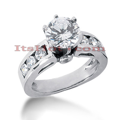 14K Gold Diamond Engagement Ring 1.34ct Main Image