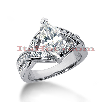 14K Gold Diamond Engagement Ring 2.61ct Main Image