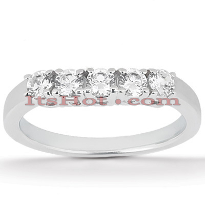 Thin 14K Gold Diamond Engagement Ring Band 0.20ct Main Image