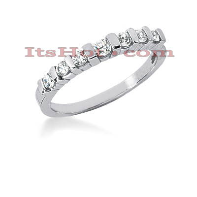 Thin 14K Gold Diamond Engagement Ring Band 0.28ct Main Image