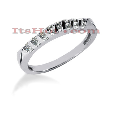 Thin 14K Gold Diamond Engagement Ring Band 0.40ct Main Image