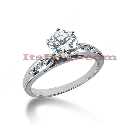 14K Gold Diamond Engagement Ring Mounting 0.08ct Main Image
