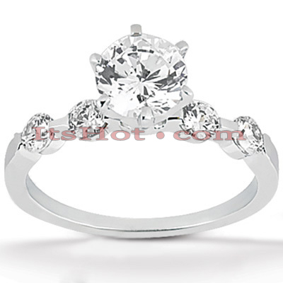 14K Gold Diamond Engagement Ring Mounting 0.12ct Main Image