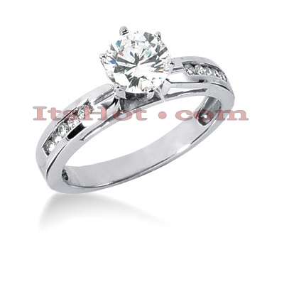 14K Gold Diamond Engagement Ring Mounting 0.15ct Main Image