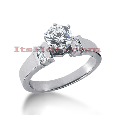 14K Gold Round Diamond Engagement Ring Mounting 0.16ct Main Image