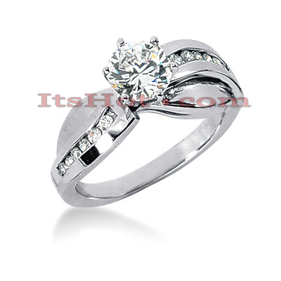 Handcrafted 14K Gold Diamond Engagement Ring Mounting 0.18ct