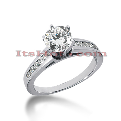 14K Gold Handcrafted Diamond Engagement Ring Mounting 0.18ct Main Image