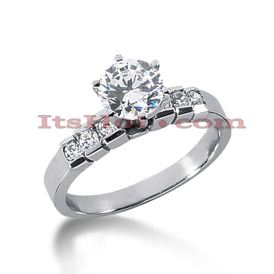 14K Gold Round Diamond Handcrafted Engagement Ring Mounting 0.18ct Main Image