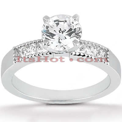 14K Gold Diamond Engagement Ring Mounting 0.18ct Main Image