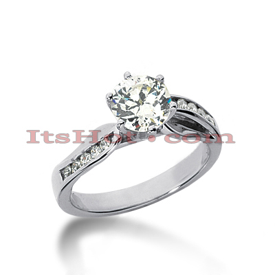 14K Gold Diamond Engagement Ring Mounting 0.19ct Main Image