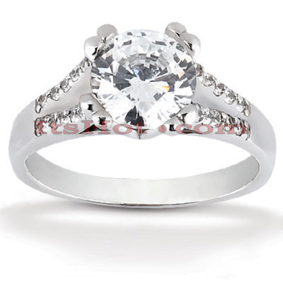 14K Gold Diamond Handcrafted Engagement Ring Mounting 0.20ct Main Image