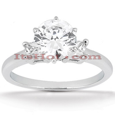 14K Gold Diamond Engagement Ring Mounting 0.20ct Main Image