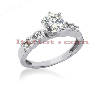 14K Gold Diamond Engagement Ring Mounting 0.24ct Main Image