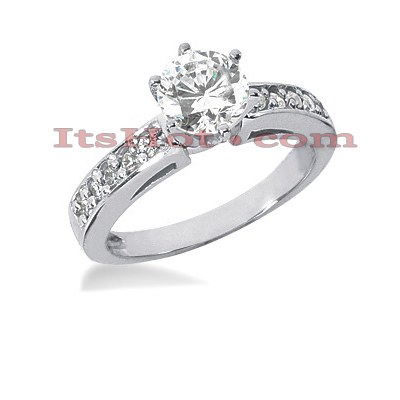 Handcrafted 14K Gold Diamond Engagement Ring Mounting 0.25ct Main Image
