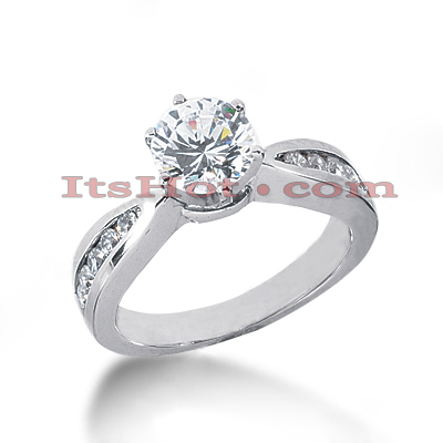 14K Gold Diamond Engagement Ring Mounting Handcrafted 0.27ct