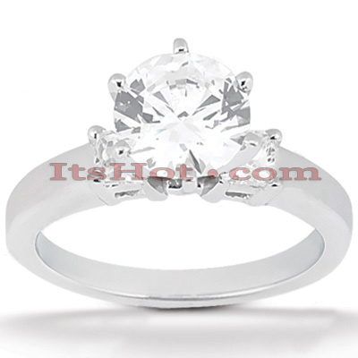 14K Gold Diamond Engagement Ring Mounting 0.34ct Main Image