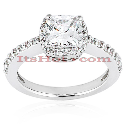 Handcrafted 14K Gold Diamond Engagement Ring Mounting 0.35ct Main Image