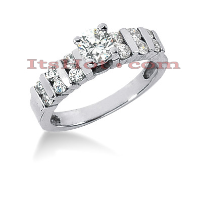 14K Gold Round Diamond Handcrafted Engagement Ring Mounting 0.36ct