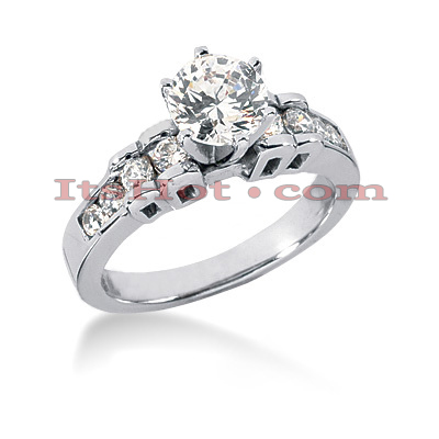 14K Gold Handcrafted Diamond Engagement Ring Mounting 0.39ct Main Image