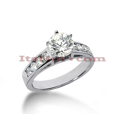 14K Gold Handcrafted Round Diamond Engagement Ring Mounting 0.40ct