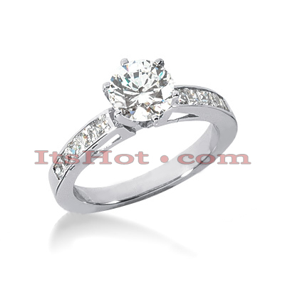 14K Gold Diamond Handcrafted Prong and Channel Set Engagement Ring Mounting 0.40ct Main Image