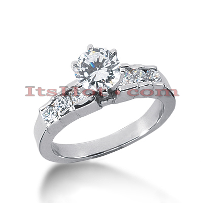 14K Gold Round Diamond Handmade Engagement Ring Mounting 0.42ct Main Image