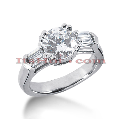 14K Gold Diamond Handcrafted Engagement Ring Mounting 0.44ct Main Image