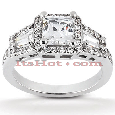 Handcrafted 14K Gold Diamond Engagement Ring Mounting 0.54ct
