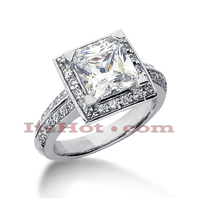 14K Gold Diamond Handcrafted Engagement Ring Mounting 0.54ct Main Image