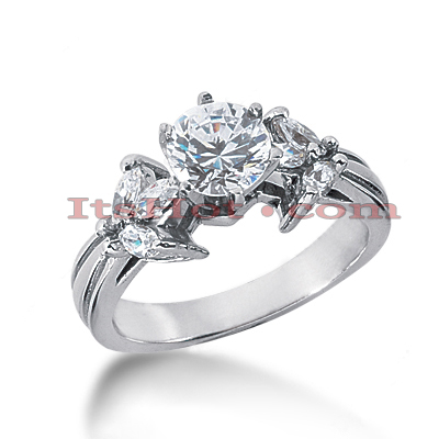 14K Gold Diamond Engagement Ring Mounting 0.54ct Main Image