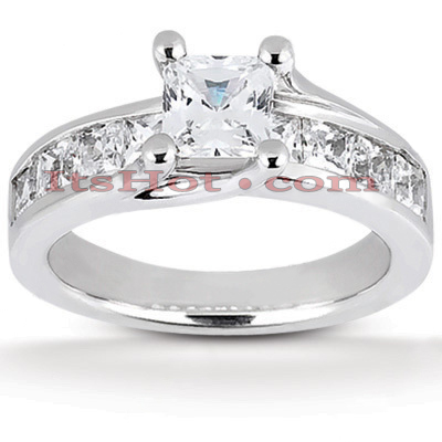 14K Gold Diamond Engagement Ring Mounting 0.55ct