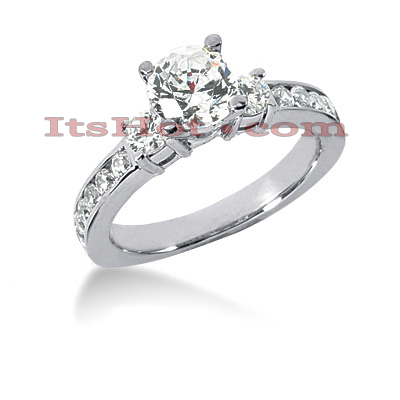 14K Gold Handcrafted Round Diamond Engagement Ring Mounting 0.56ct Main Image