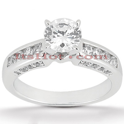 14K Gold Diamond Handcrafted Engagement Ring Mounting 0.58ct Main Image