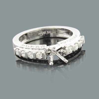 14K Gold Diamond Engagement Ring Mounting 0.63ct Main Image