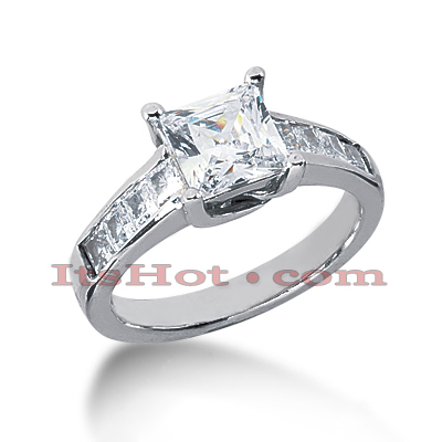 14K Gold Diamond Engagement Ring Mounting 0.64ct Main Image